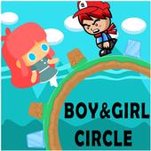 LuckyBoy and PrettyGirl Circle Run icon