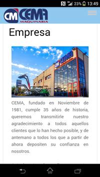 Cema Maquinaria screenshot 1
