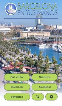 Barcelona en tus manos poster