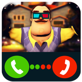 fake call from killer neighbor icon