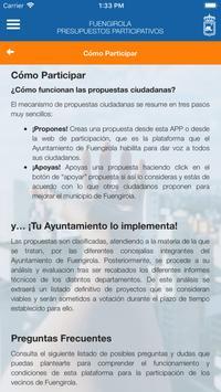 Fuengirola Presupuestos Participativos screenshot 14