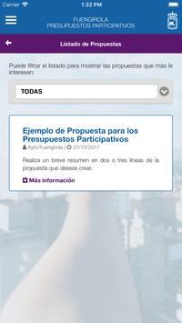 Fuengirola Presupuestos Participativos apk screenshot