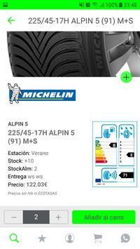 Nex distribuidor mayorista de neumáticos apk screenshot