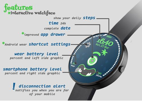 Steps Monster Watch Face poster