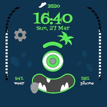 Steps Monster Watch Face apk screenshot