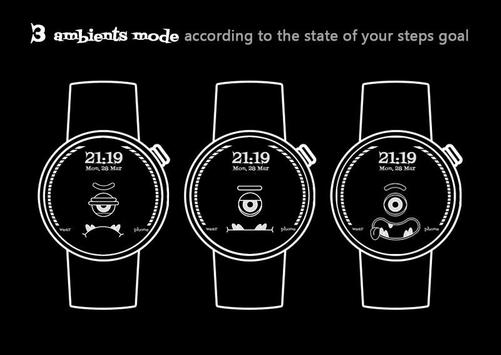 Steps Monster Watch Face apk screenshot