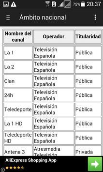 Televisiones de España - Lista screenshot 1