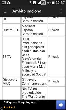 Televisiones de España - Lista screenshot 3