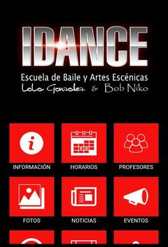 iDance Madrid. Escuela de danza. poster