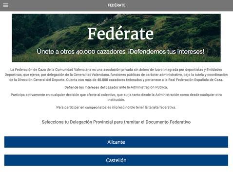 Federación Caza CV apk screenshot