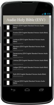ESV Audio Bible Free App poster