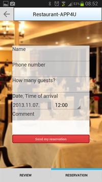 RestaurantAPP4U apk screenshot