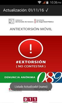 Antiextorsión Sonora apk screenshot