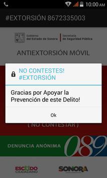 Antiextorsión Sonora poster