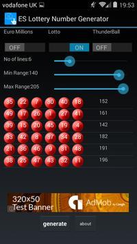 ES UK Lottery Number Generator apk screenshot