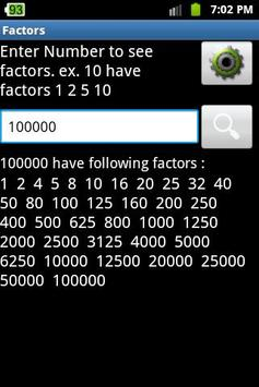 Factors Calculator poster