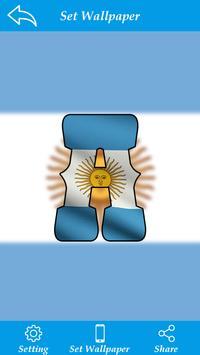 Argentina Flag Letter Alphabet & Name poster