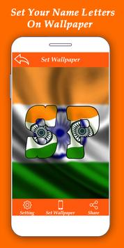 Indian Flag Alphabet Letter/Name Live Wallpaper/DP poster