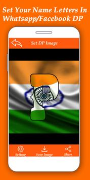 Indian Flag Alphabet Letter/Name Live Wallpaper/DP screenshot 2