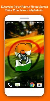 Indian Flag Alphabet Letter/Name Live Wallpaper/DP apk screenshot