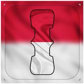 Indonasia Flag Letter Alphabet & Name icon