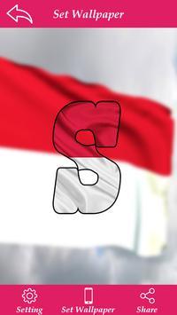 Indonasia Flag Letter Alphabet & Name poster