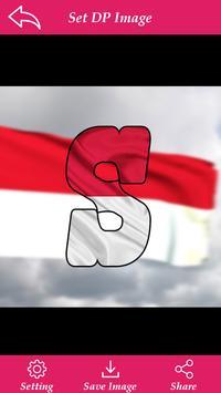 Indonasia Flag Letter Alphabet & Name screenshot 1