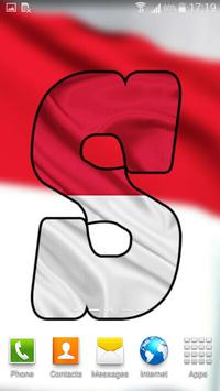 Indonasia Flag Letter Alphabet & Name screenshot 2