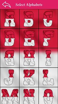 Indonasia Flag Letter Alphabet & Name screenshot 4