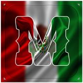 Maxican Flag Letter Alphabet & Name icon