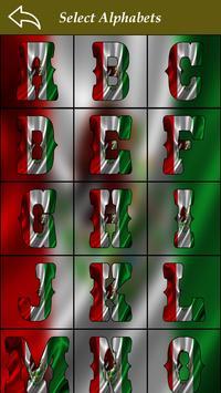 Maxican Flag Letter Alphabet & Name screenshot 4