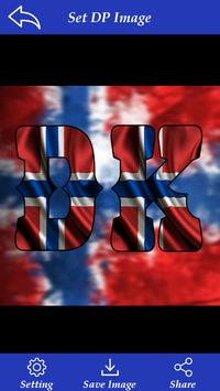 Norway Flag Letter Alphabet & Name screenshot 1