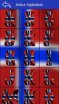 Norway Flag Letter Alphabet & Name screenshot 4