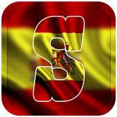 Spain Flag Letter Alphabet & Name icon