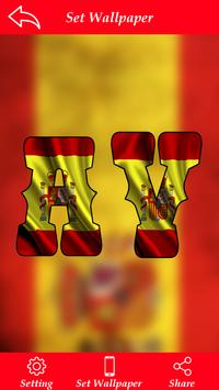 Spain Flag Letter Alphabet & Name poster