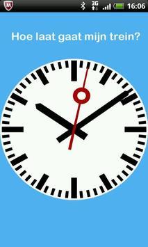Hoe laat gaat mijn trein? poster