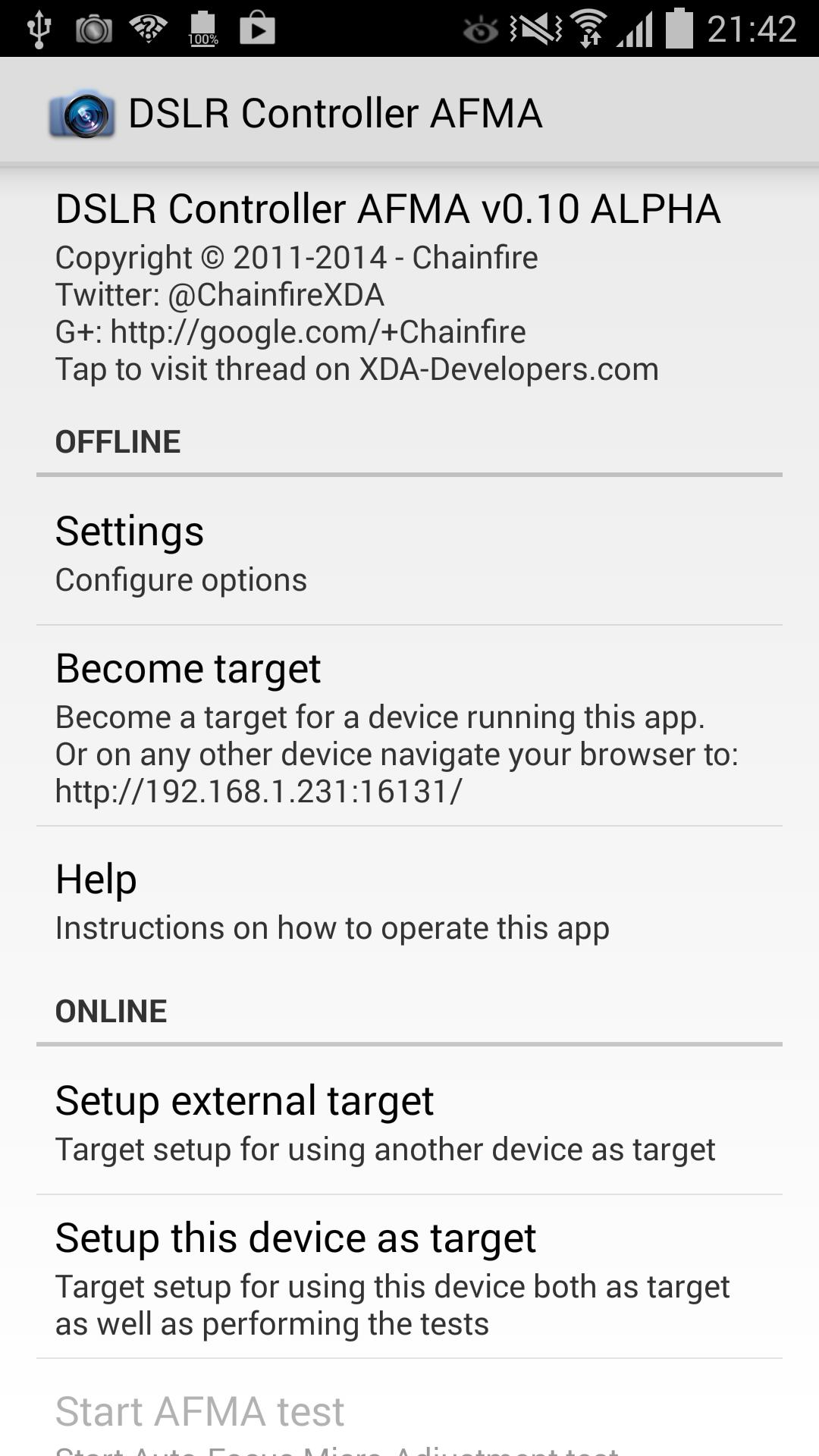 DSLR Controller AFMA for Android - APK Download