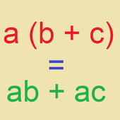 Distributive property icon