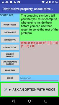 Distributive property screenshot 1