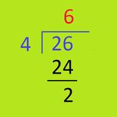 Multi-digit division icon