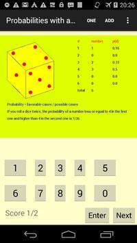 Probabilities with a dice apk screenshot