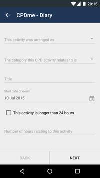 CPD Portfolio Builder - CPDme apk screenshot
