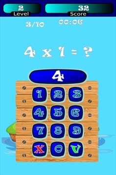 Times Tables Math Trainer FREE poster