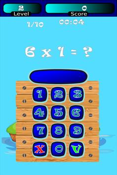 Times Tables Math Trainer FREE apk screenshot