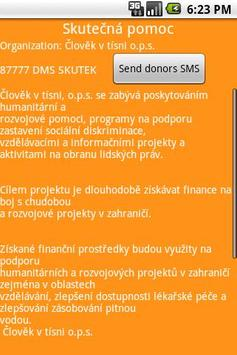 Donors Message Service - DMS apk screenshot