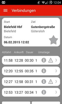 KCF Fahrplan screenshot 3