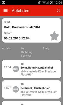 KCF Fahrplan screenshot 4
