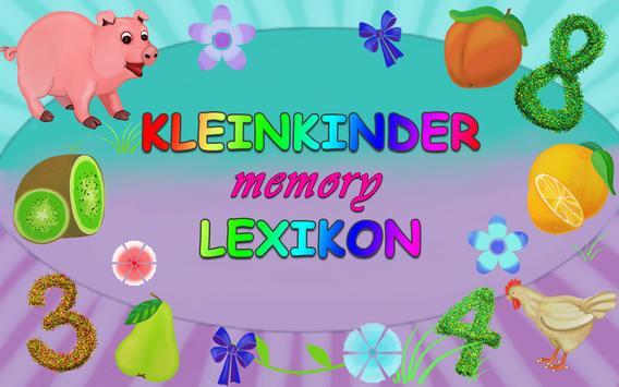 Kleinkinder Lexikon Memory poster