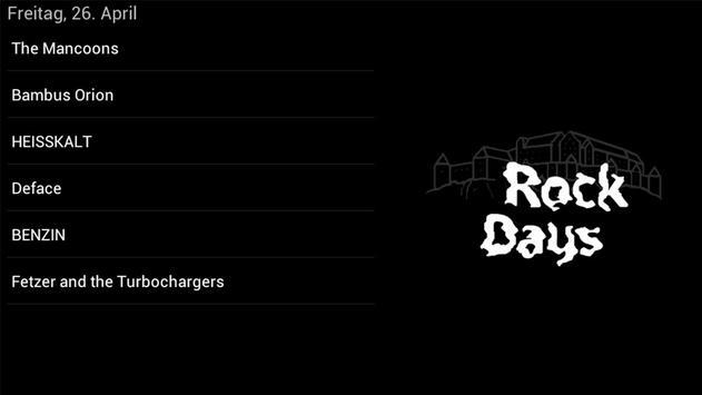 Rock Days App screenshot 1