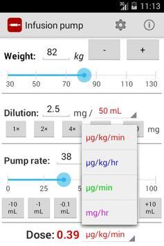 Infusion pump screenshot 1